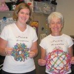 teachers with Hoberman spheres