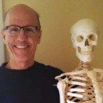 Jim Gillen with skeleton