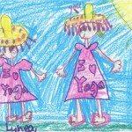 child's I love yoga drawing