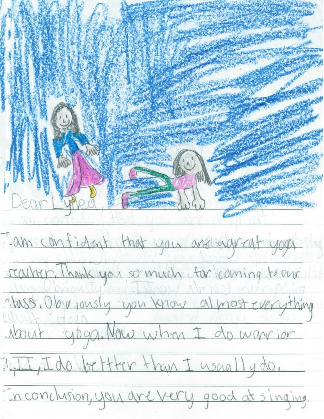 thank you note from a child