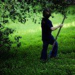 boy walking outdoors