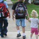kids walking to school