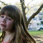girl throwing tantrum