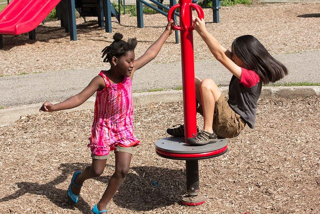 girls at playground