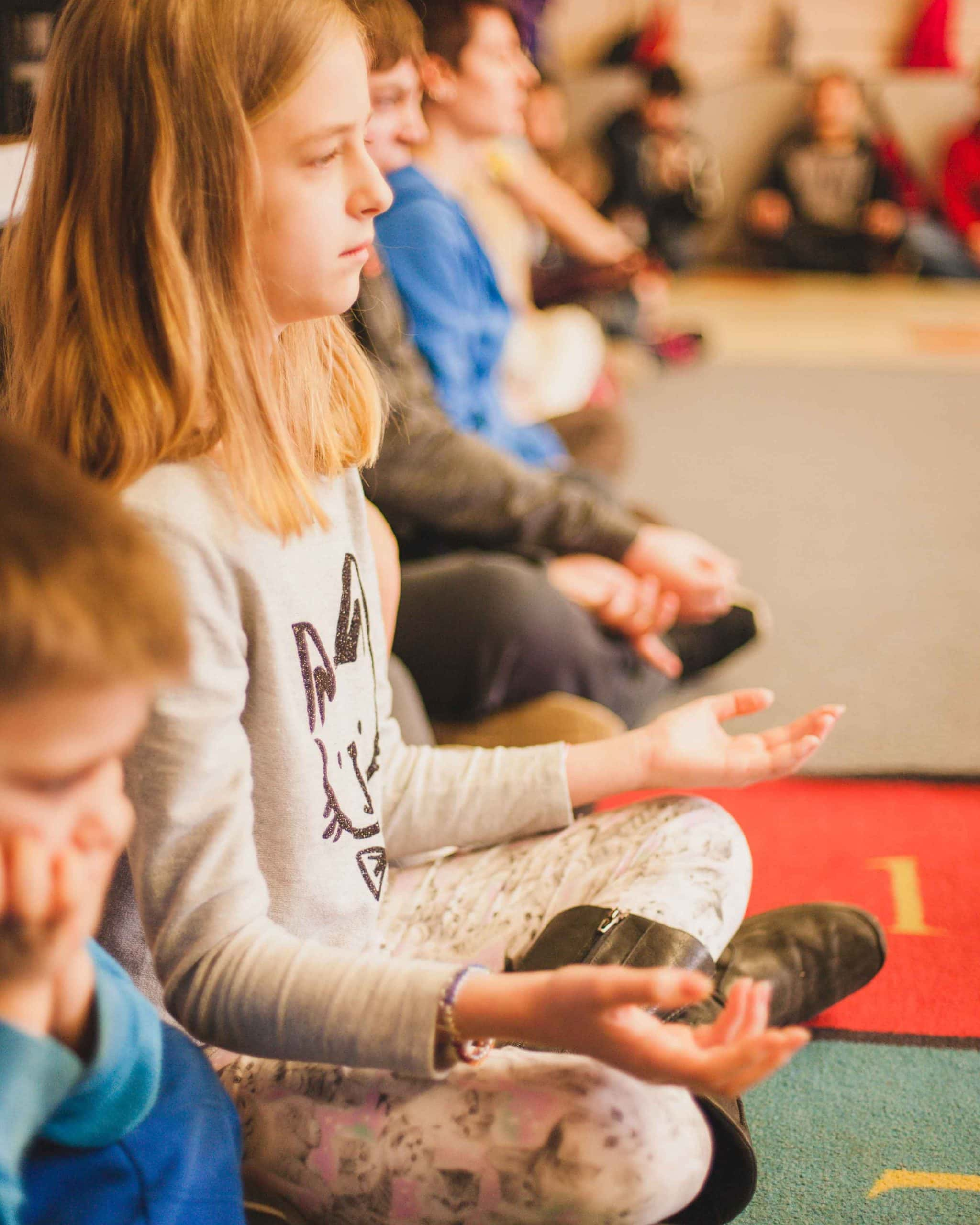 kids practicing mindfulness