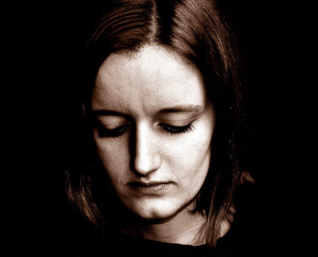 somber woman