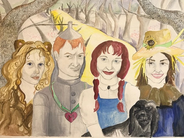 portrait of friends as Oz characters