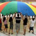 PE class parachute play