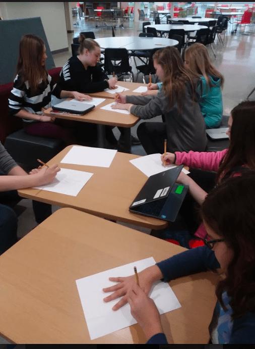 kids doing hand drawing