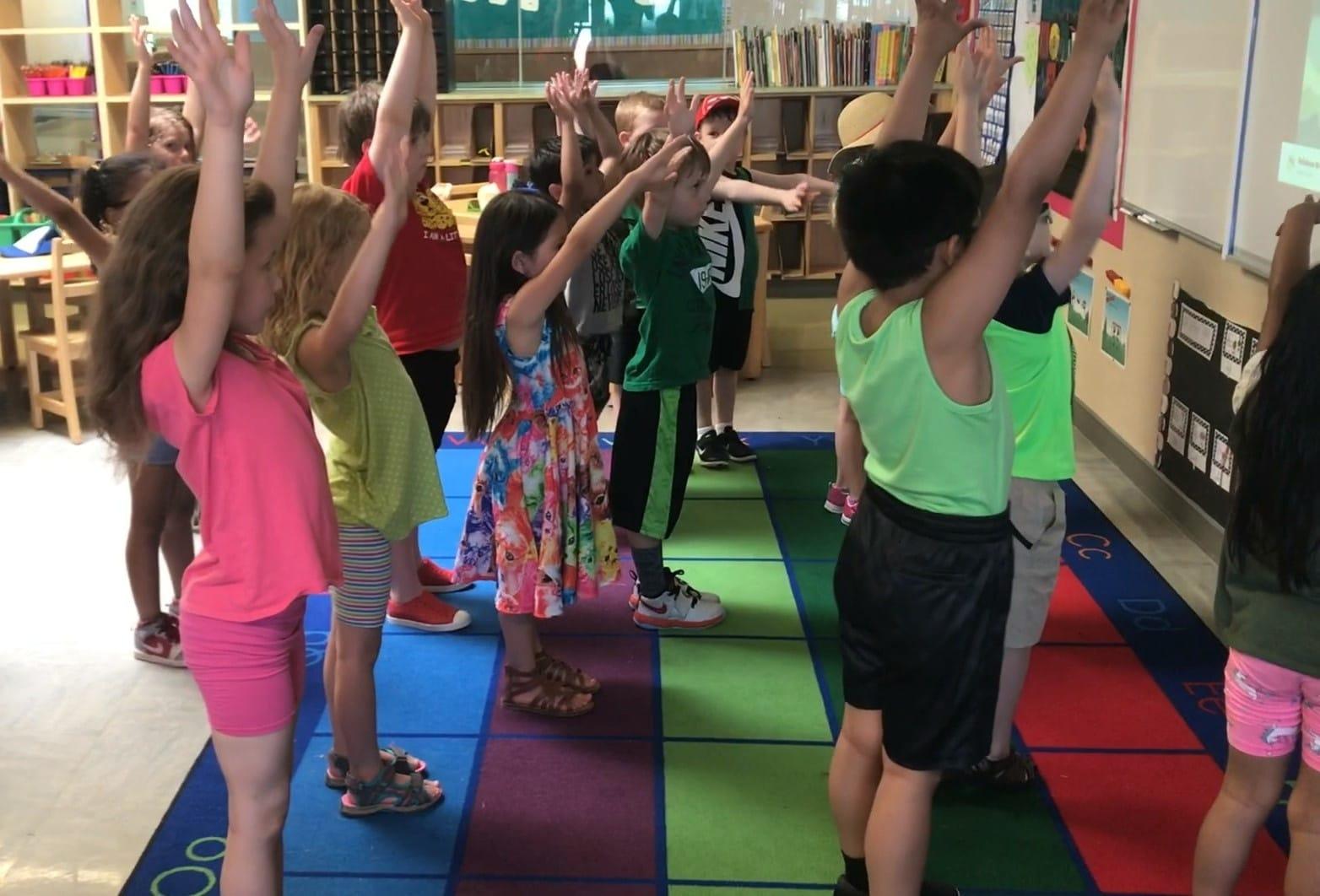 class doing Yoga Calm