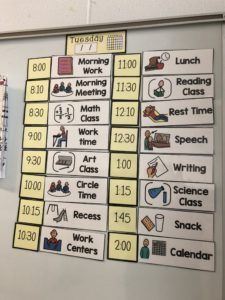 daily class schedule display