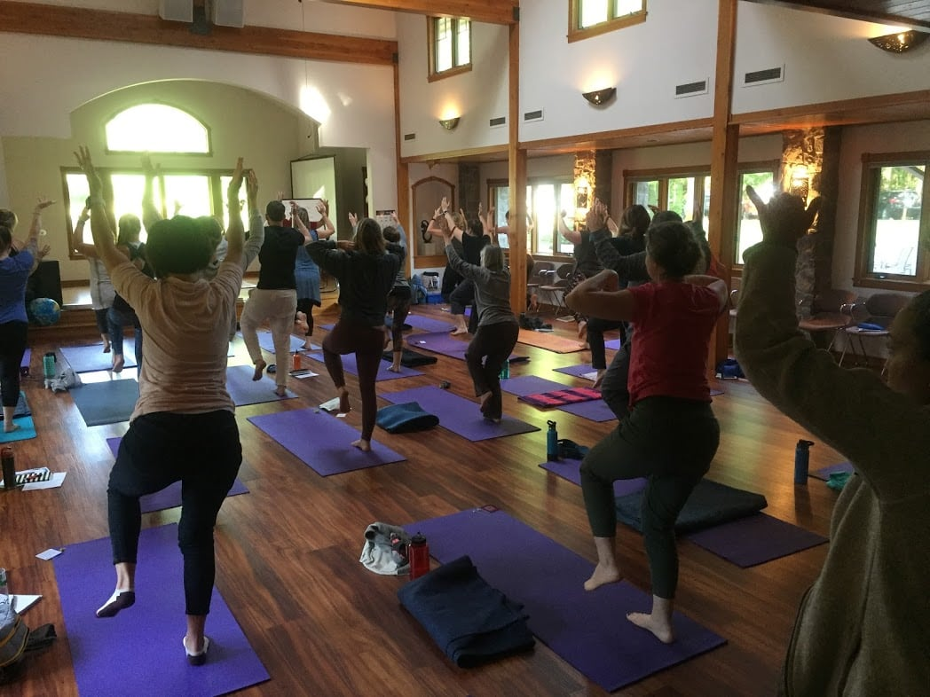 class at Yoga Calm Summer Intensive 2019