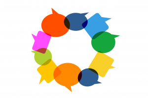 circle of conversation balloons