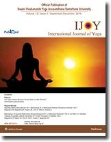 International Journal of Yoga cover